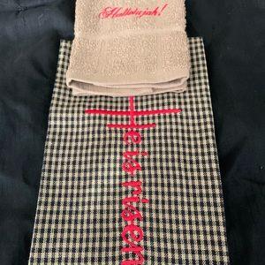 Embroidery Kitchen towel & washcloth.